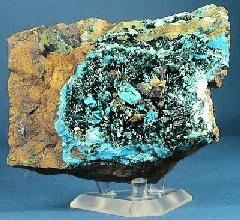 Atacamite on Chrysocolla