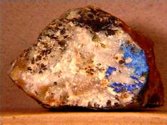 Azurite on Quartz