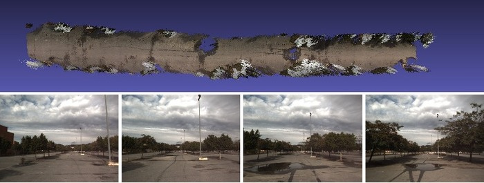 Example reconstruction results using the Malaga dataset (courtesy of Luis Blanco, MRPT project)