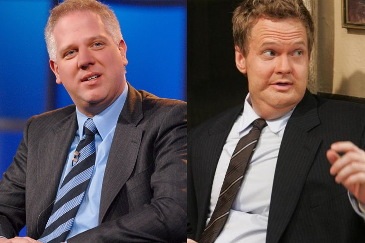 Glenn Beck and fat Barney