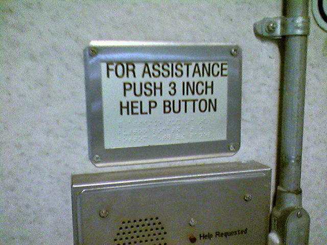 For assistance push 3 inch help buttom.