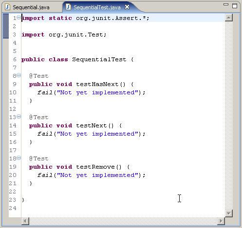 How to write junit class