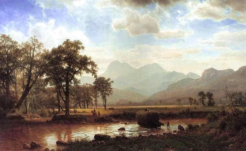 Albert Bierstadt Haying Conway Meadows