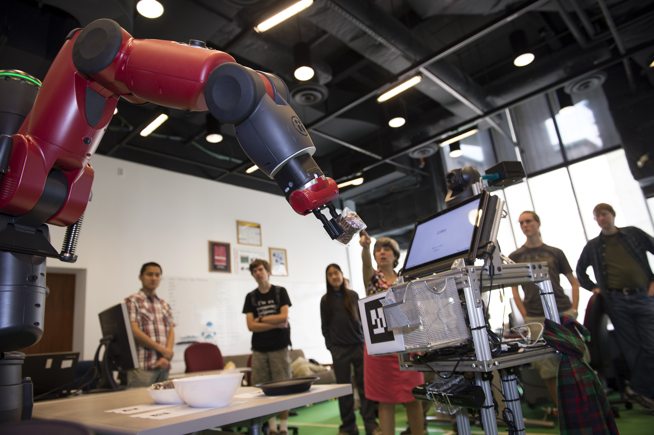 veloso lab welcomes baxter robot to campus