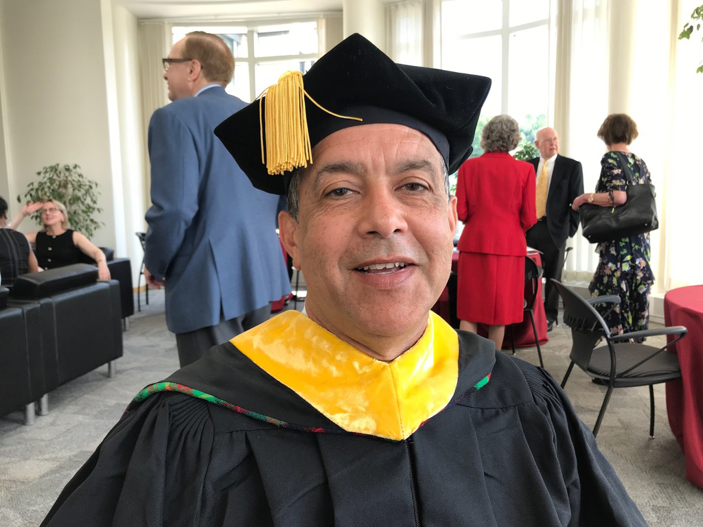 Jacobo Carrasquel during CMU's commencement activities.