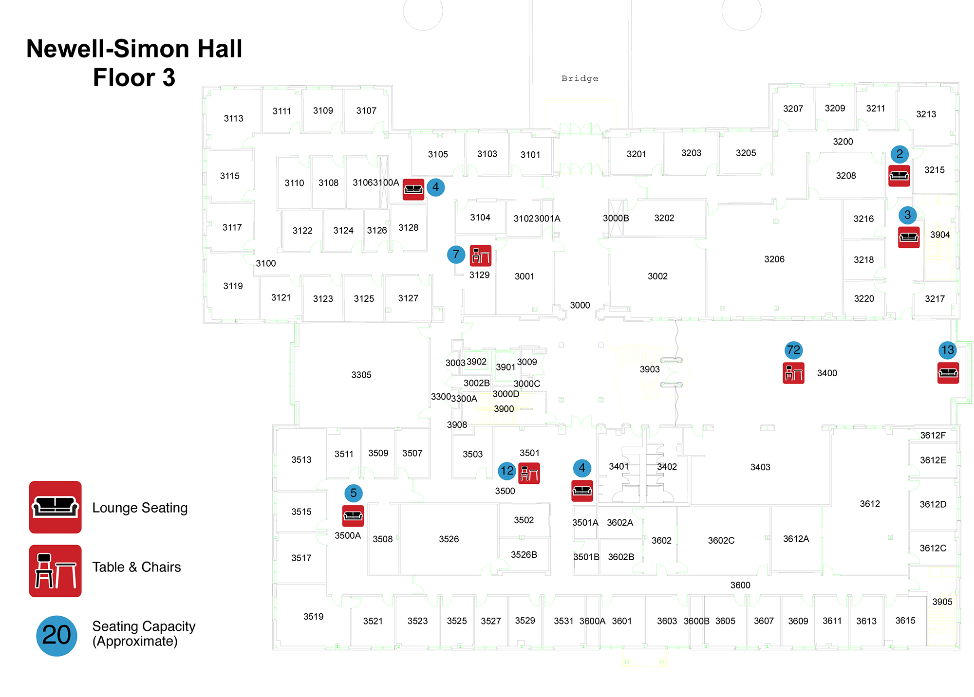 Newell-Simon - 3rd Floor Seating Locations