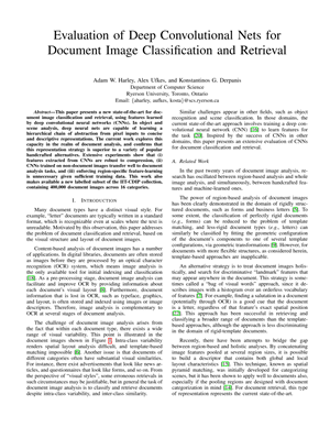 Evaluation of Deep Convolutional Nets for Document Image
