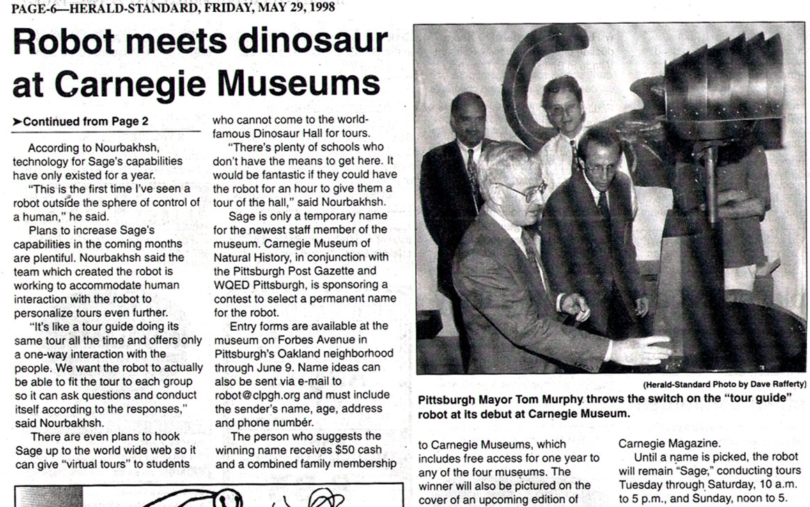 News Article from the Herald-Standard, May 29, 1998