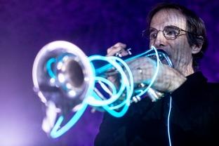 Dannenberg playing trumpet.