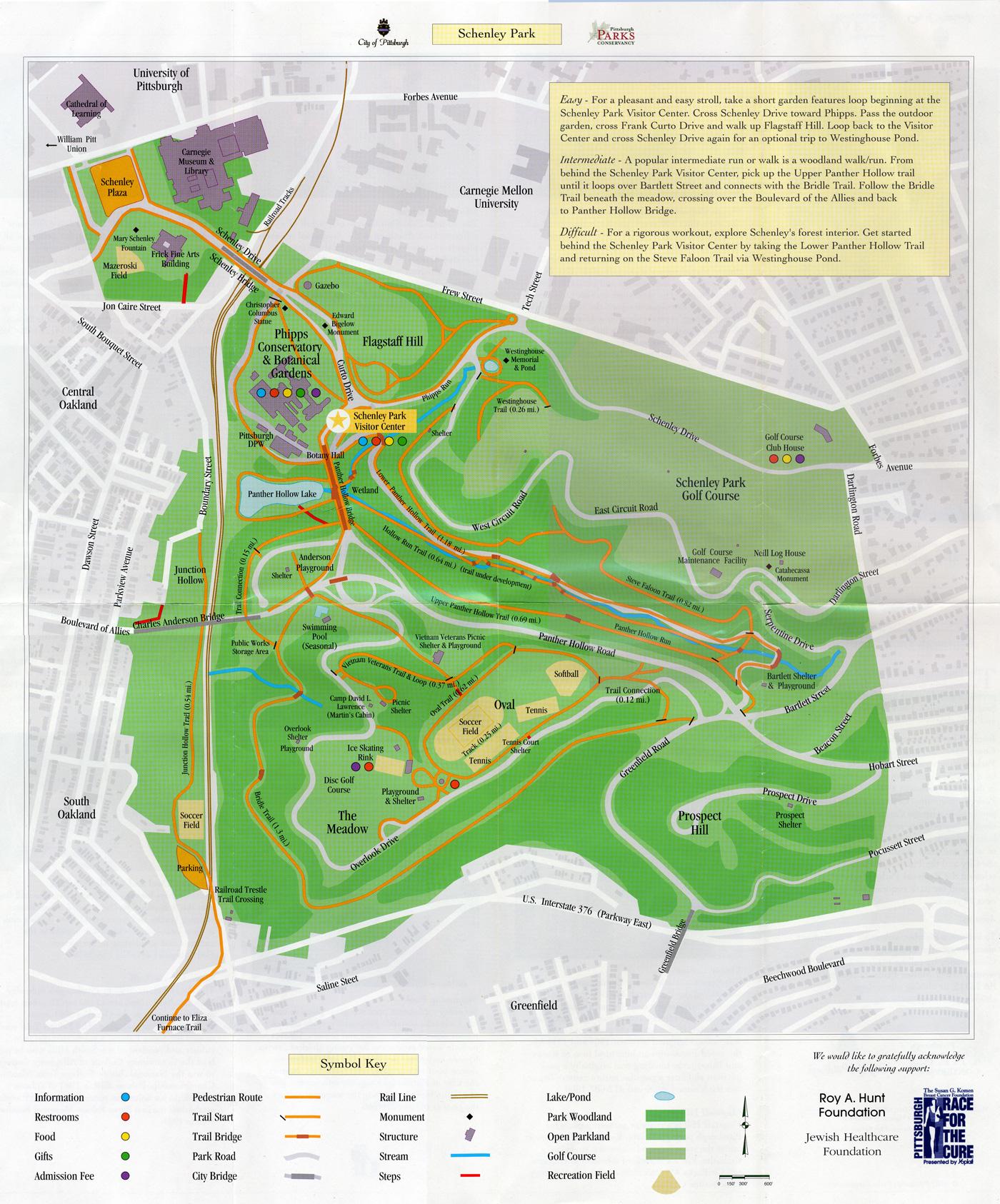 Schenley Park Map Schenley Park Map
